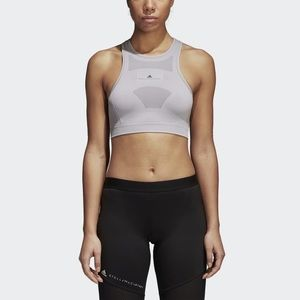 Adidas Stella McCartney Seamless Bra In Gray